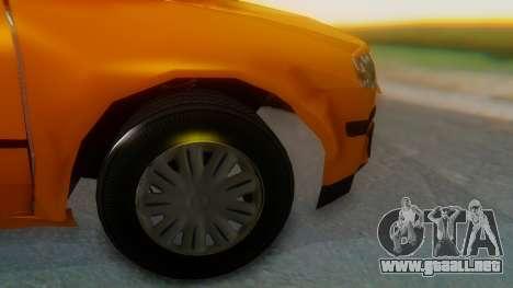 Samand Taxi para GTA San Andreas vista posterior izquierda