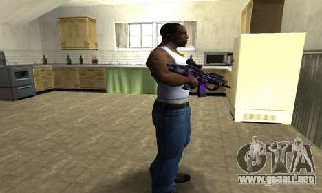 Blue Scan M4 para GTA San Andreas tercera pantalla
