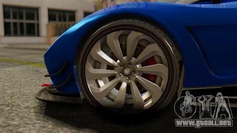 Pegassi Osyra Extra 1 para GTA San Andreas vista posterior izquierda