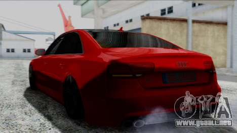 Audi A8 Turkish Edition para GTA San Andreas vista posterior izquierda