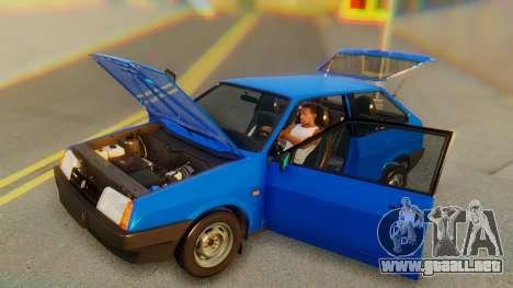 VAZ 2108 Stoke para vista lateral GTA San Andreas