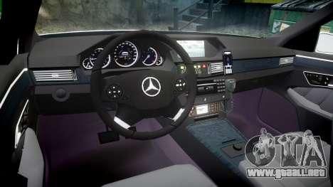 Mercedes-Benz E63 AMG Estate 2012 Police [ELS] para GTA 4 vista hacia atrás