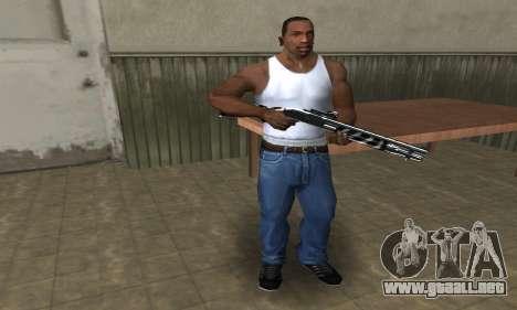 Two Lines Shotgun para GTA San Andreas segunda pantalla
