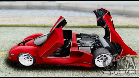 Grotti Turismo RXX-K v2.0 para GTA San Andreas vista hacia atrás