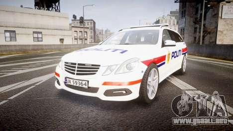 Mercedes-Benz E63 AMG Estate 2012 Police [ELS] para GTA 4