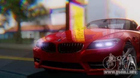BMW Z4 sDrive35is 2011 2 Extras para la visión correcta GTA San Andreas