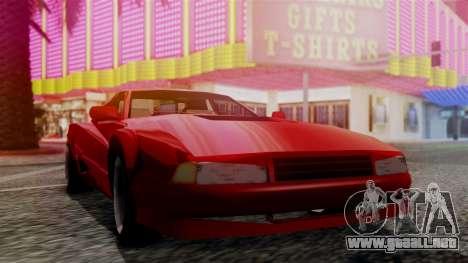 Cheetah New Edition para GTA San Andreas vista posterior izquierda