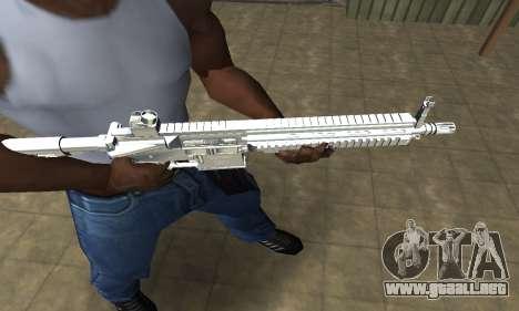 White Cool M4 para GTA San Andreas segunda pantalla