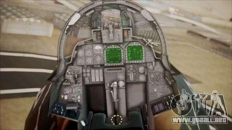 F-14D AC6 Halloween para GTA San Andreas vista hacia atrás