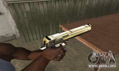 Full of Gold Deagle para GTA San Andreas