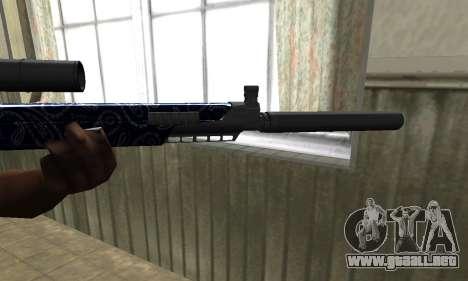 Blue Oval Sniper Rifle para GTA San Andreas segunda pantalla