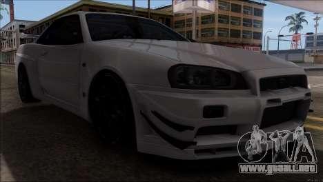 Nissan Skyline GT-R34 para visión interna GTA San Andreas