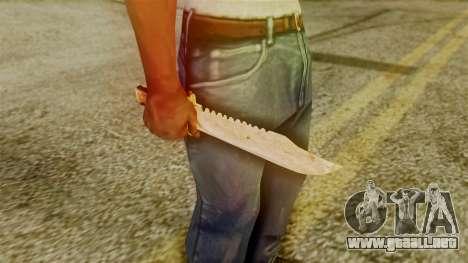 Red Dead Redemption Knife Legendary Assasin para GTA San Andreas tercera pantalla