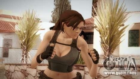 Well Armed Lara Croft para GTA San Andreas tercera pantalla