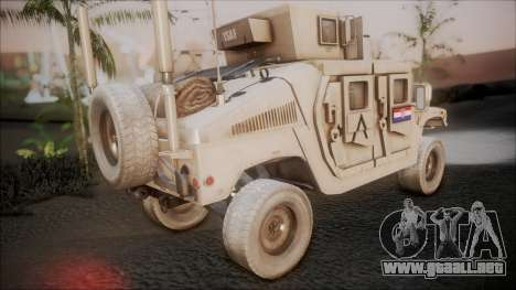 HMMWV Croatian Army ISAF Contigent para GTA San Andreas left