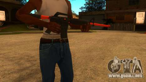 M4A1 Nitro para GTA San Andreas segunda pantalla