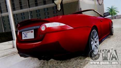 Jaguar XKR-S 2011 Cabrio para GTA San Andreas left