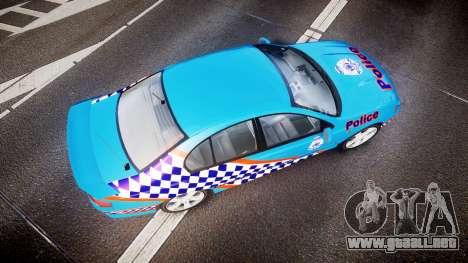 Ford Falcon BA XR8 Police [ELS] para GTA 4 visión correcta