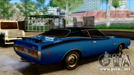 Dodge Charger Super Bee 426 Hemi (WS23) 1971 PJ para GTA San Andreas vista posterior izquierda