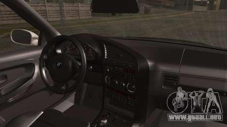 BMW M3 E36 Police para GTA San Andreas vista posterior izquierda