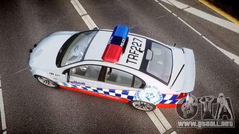 Holden Commodore SS Highway Patrol [ELS] para GTA 4 visión correcta