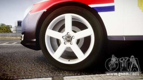 Volvo V70 2014 Norwegian Police [ELS] para GTA 4 vista hacia atrás