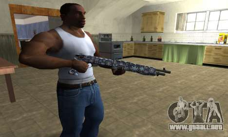 Snowflake Combat Shotgun para GTA San Andreas segunda pantalla