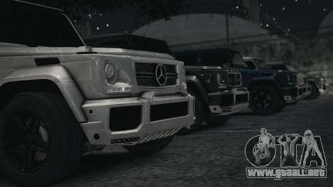 Mercedes-Benz G65 W463 para GTA 4 Vista posterior izquierda