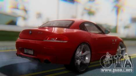 BMW Z4 sDrive35is 2011 2 Extras para GTA San Andreas left