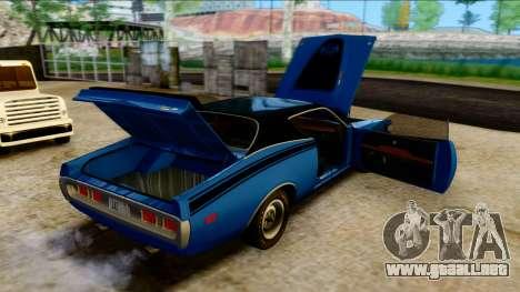 Dodge Charger Super Bee 426 Hemi (WS23) 1971 PJ para visión interna GTA San Andreas