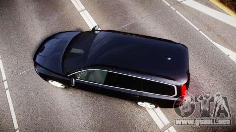 Volvo V70 2014 Unmarked Police [ELS] para GTA 4 visión correcta