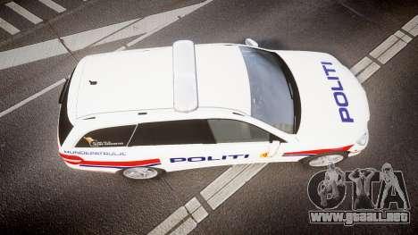 Mercedes-Benz E63 AMG Estate 2012 Police [ELS] para GTA 4 visión correcta