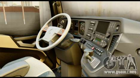 Mercedes-Benz Actros MP4 4x2 Exclusive Interior para la visión correcta GTA San Andreas