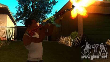 AK-47 Serpiente de Fuego para GTA San Andreas tercera pantalla