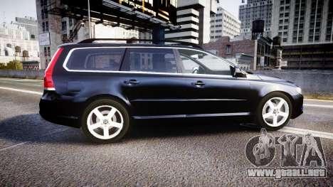 Volvo V70 2014 Unmarked Police [ELS] para GTA 4 left