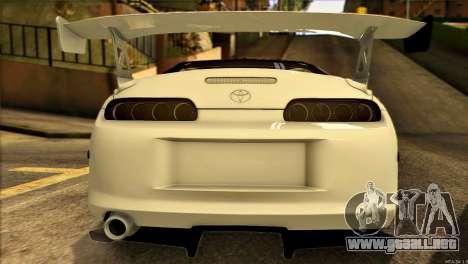 Toyota Supra 1998 E-Design para visión interna GTA San Andreas