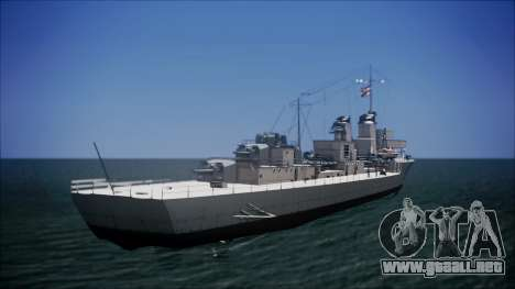 Type 34 Destroyer para GTA San Andreas left