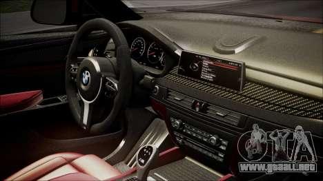 BMW X6M 2015 para la visión correcta GTA San Andreas