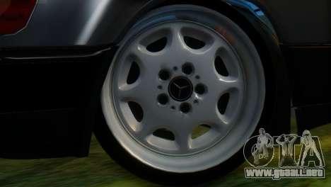 Mercedes-Benz W124 para GTA San Andreas vista posterior izquierda