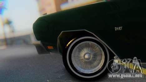 Dodge Dart Coupe para GTA San Andreas vista hacia atrás