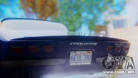 Invetero Coquette BlackFin v2 GTA 5 Plate para vista inferior GTA San Andreas