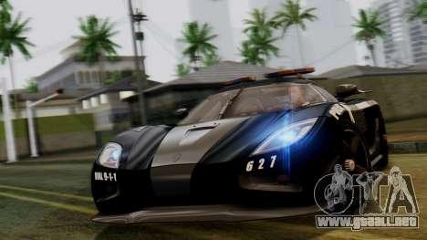 NFS Rivals Koenigsegg Agera R Enforcer para GTA San Andreas