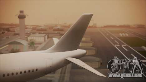 Airbus A320-200 para GTA San Andreas vista posterior izquierda