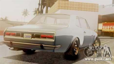 Vulcar Warrener GT 1500 (CT1) para GTA San Andreas left