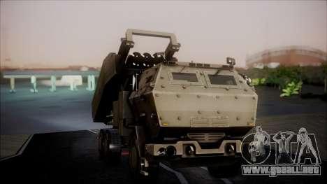 M142 HIMARS Desert Camo para la visión correcta GTA San Andreas