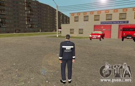 Los Rescatistas Ucrania para GTA San Andreas segunda pantalla
