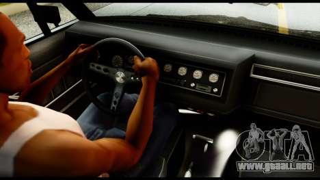 GTA 5 Vapid Chino Tuning v1 para GTA San Andreas vista posterior izquierda