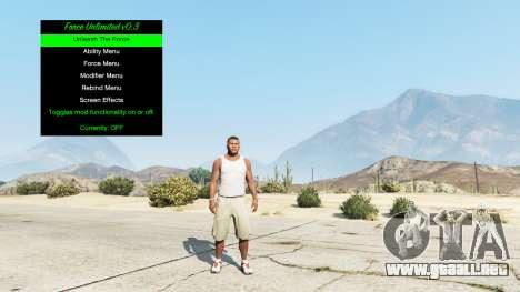 GTA 5 El poder infinito de v0.3 tercera captura de pantalla