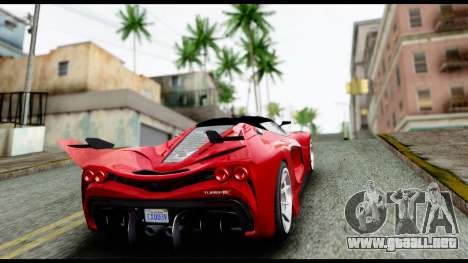 Grotti Turismo RXX-K v2.0 para visión interna GTA San Andreas