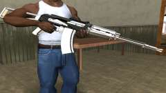 White with Black AK-47 para GTA San Andreas